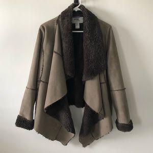 3 Sisters Vegan Shearling Faux Fur Coat